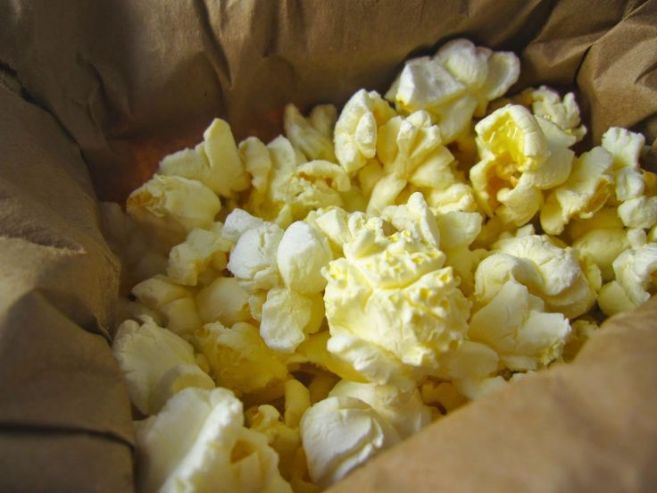 Easy Microwave Popcorn. A one ingredient recipe. All you need are popcorn kernels and a brown paper bag.