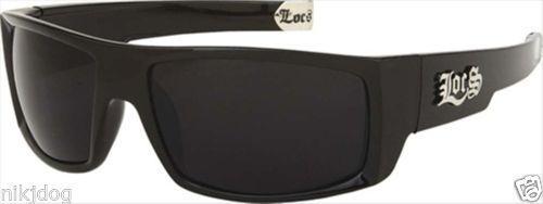 Locs-Sunglasses-Black-Wrap-Frame-Black-Lenses-Sports-8LOC91025-Hardcore-Gangster