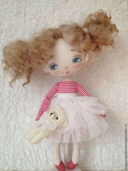 Купить Кукла малышка Маняша - розовый, кукла ручной работы, кукла в подарок, кукла интерьерная