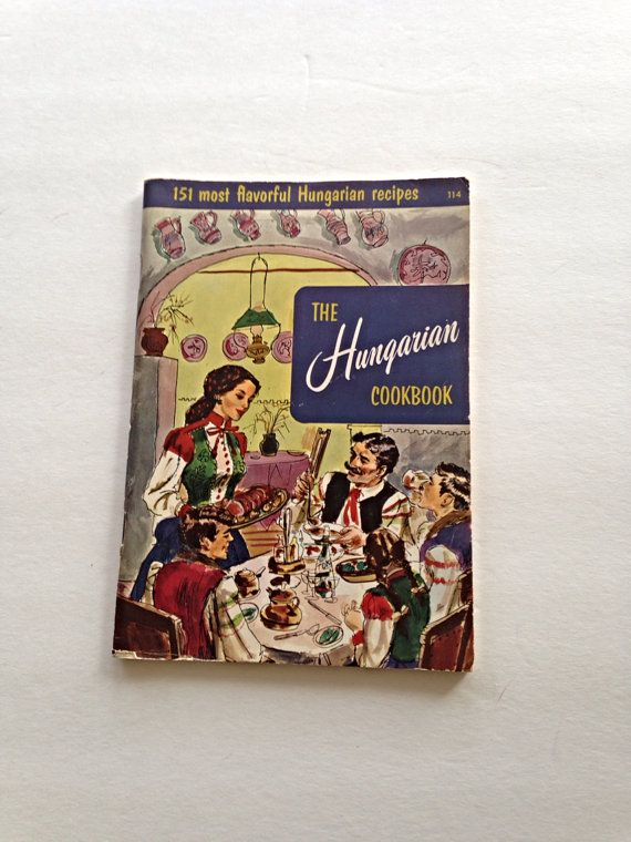 The Hungarian Cookbook Hungarian recipes by VintageHappinessTime, $6.00