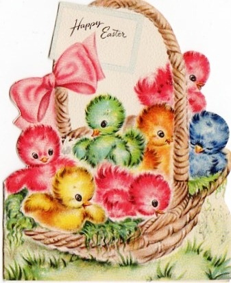 chicks http://www.pinterest.com/buttonannie/retro-vintage-easter-graphics/