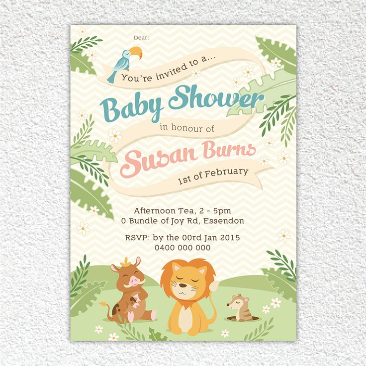 Jungle bungle - Baby shower invite