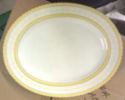 Yellow British Anchor oval platter.