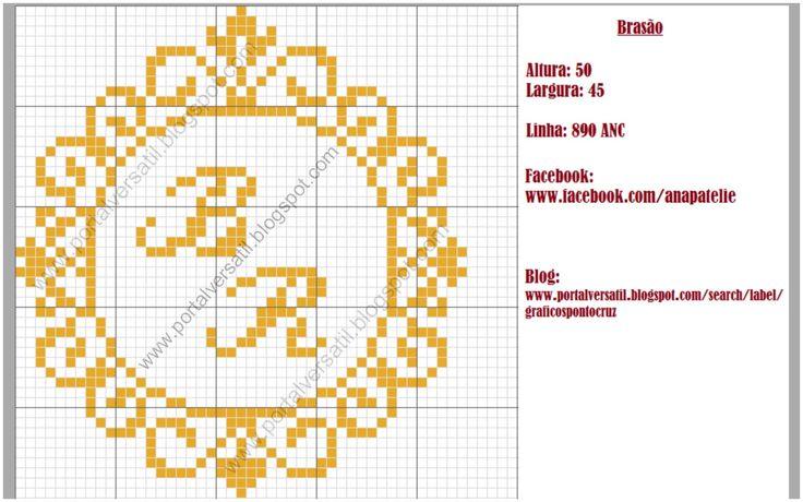Portal Versátil: Gráfico Ponto Cruz - Brasão                                                                                                                                                                                 Mais