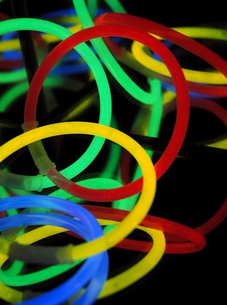 Tube of Assorted Color Glow Bracelets (25 bracelets/pkg) $4.50