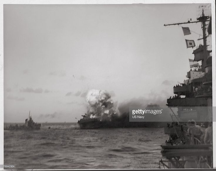 USS Lexington Burns During Battle Of The Coral Sea Pictures ...