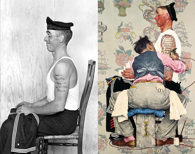 Norman Rockwell references