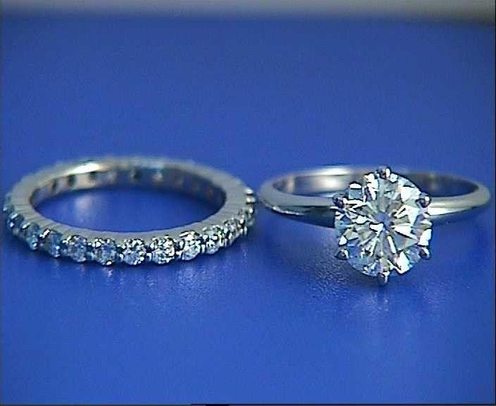 2.02ct H-SI2 Round Diamond Enagement Ring & Wedding Eternity Set JEWELFORME BLUE 900,000 GIA EGL Certified diamonds