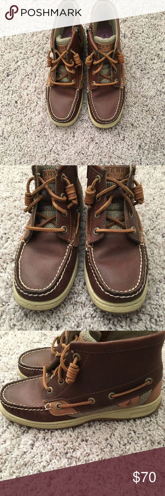 Sperry High Top Boat Shoe Boots These are comfy and barely worn a handful of times. Sperry boat shoes are good for any season! Still in very good condition. Sperry Top-Sider Shoes Ankle Boots & Booties