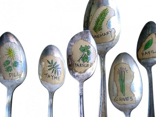 Spoon Herb Garden Markers