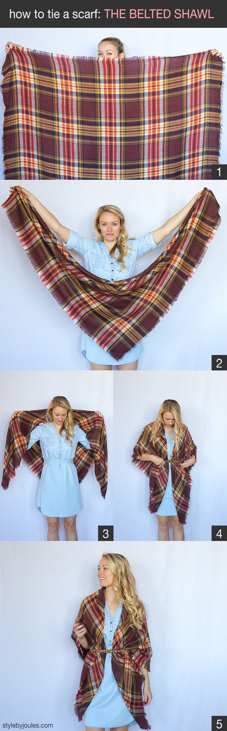 How To Tie A Scarf, How To Wear A Scarf, Styling A Blanket Scarf