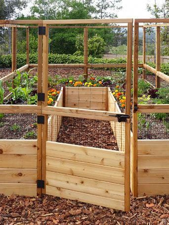 Raised Garden Bed 8'x8' or 8'x12' with Deer Fence Kit ...