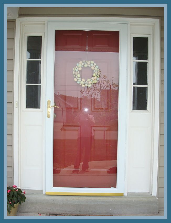104 Reference Of Storm Door Home Depot Frosted Glass In 2020 Red Front Door Sidelight Windows Front Doors With Windows