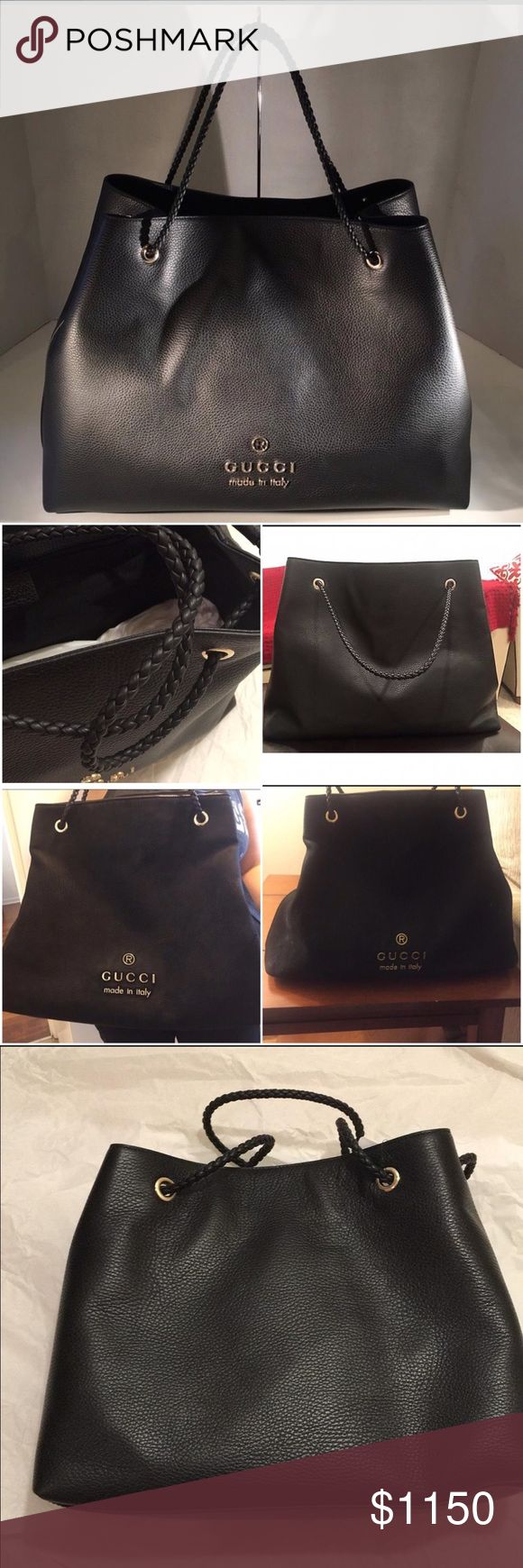 gucci bags used. 🚫sold🚫🌹hp🌹gucci gifford tote bag black beautiful looking gucci bag. leather x used but in great condition. bags s