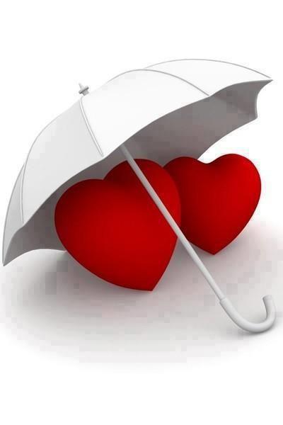 deux coeur sous un parapluie                                                                                                                                                                                 Plus