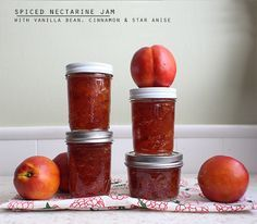 Ushering in autumn with spiced nectarine jam.