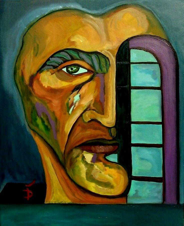 Closed Window  Oil on canvas, 90 x 50 cm; Price: 750 dollars