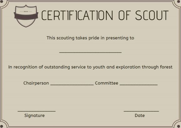 Boy Scout Certificate Of Appreciation Template Certificates Template Certificate Of Appreciation Template Certificate Of Appreciation