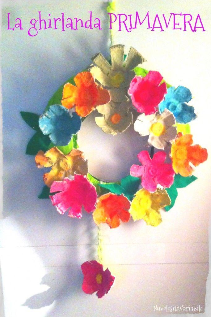 La ghirlanda primavera: da cestino porta uova a ghirlanda decorata con i colori fluo Opitec Italia