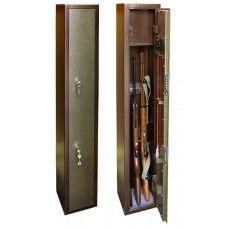 ОШ-3 - односекционный оружейный сейф (шкаф) на 3 ружья высотой до 1350 мм.