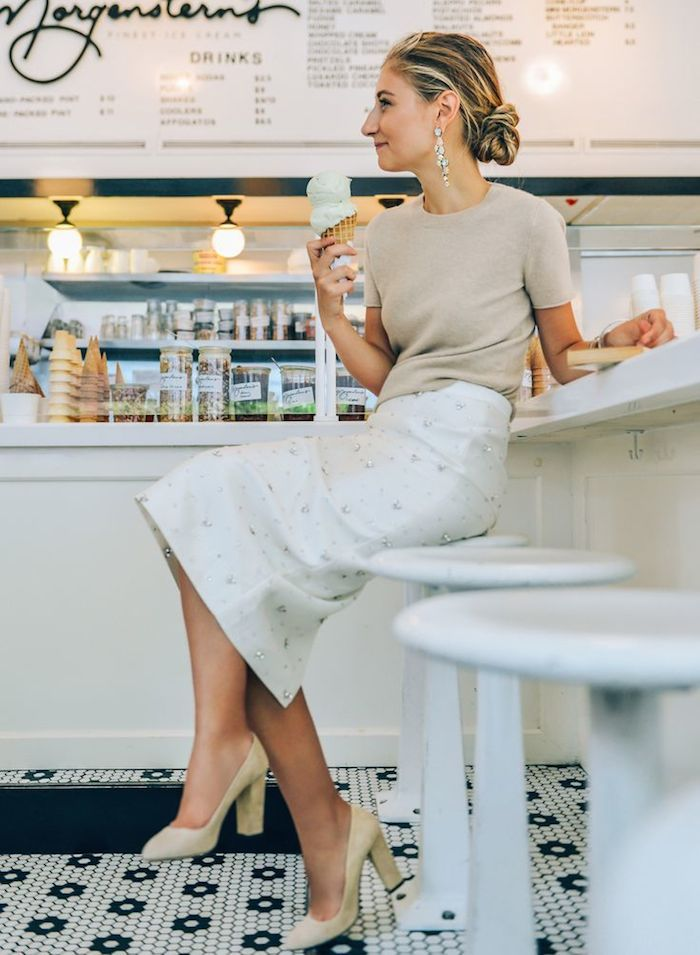 Fashion Inspiration   Chandelier Earrings & Loose Chignon