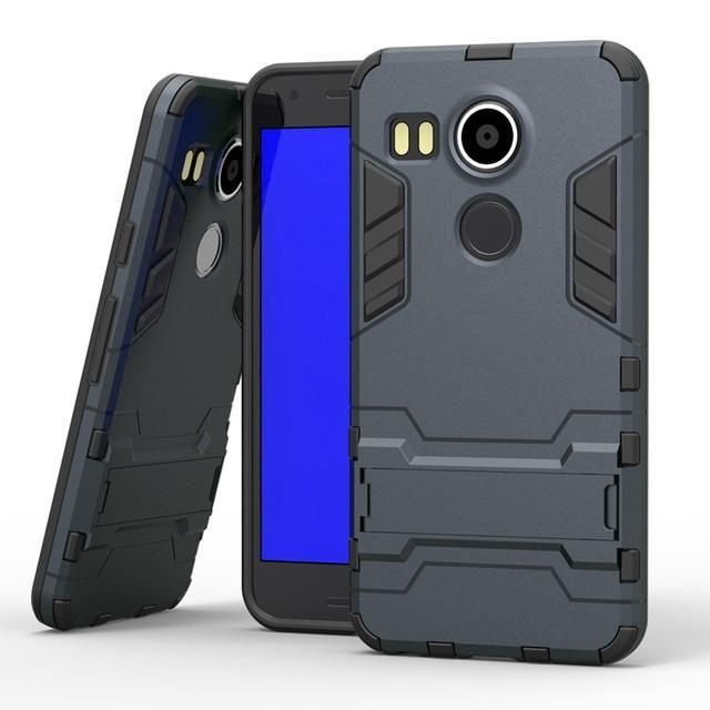 "STRONG CASE, For Google Nexus 5 2015 H790 5.2"" Hybrid Armor Defender Stand."