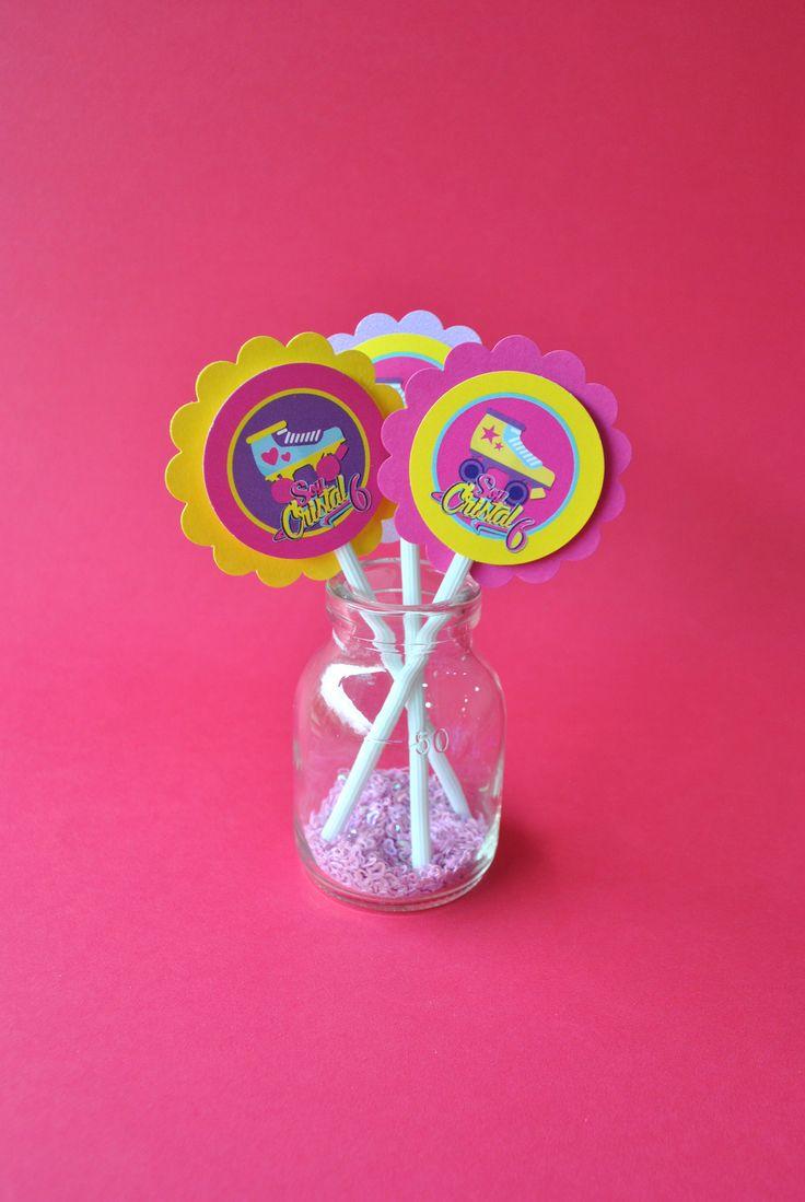 Toppers para cupcakes, postrecitos o pasabocas! #cupcaketoppers #patines…