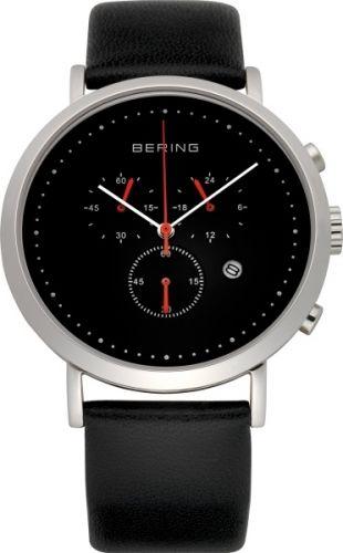 Herreklokke kronograf fra Bering. Safirglass og urkasse av rustfritt stål. Ultra slim design. #bering #kronograf #classic #safirglass #klokke #ur # herreklokke #zendesign