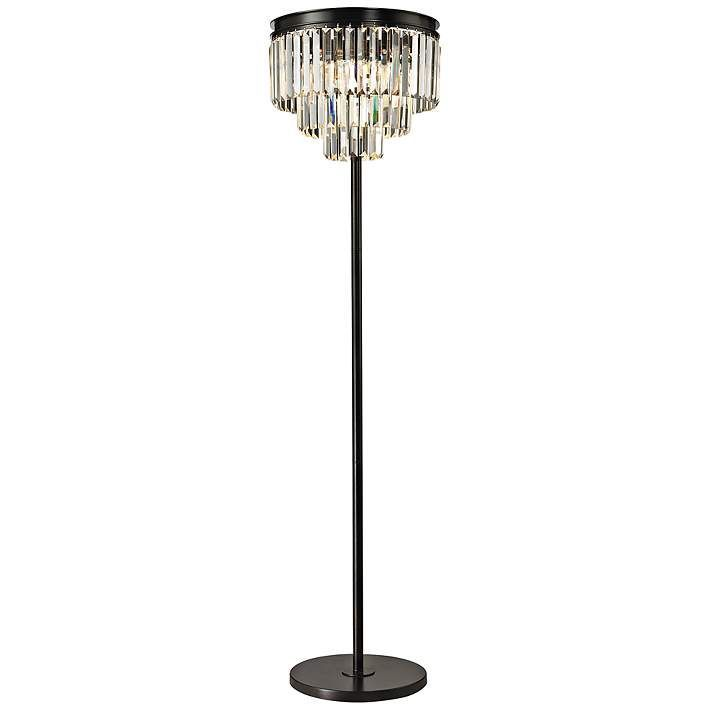 Dimond Palatial Crystal Chandelier Floor Lamp 7p985 Lamps