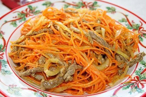 Корейские салаты из сушёной морской капусты