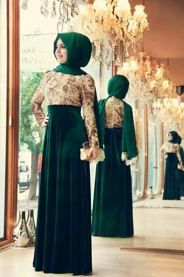 Emerald formal #hijab#muslimah fashion