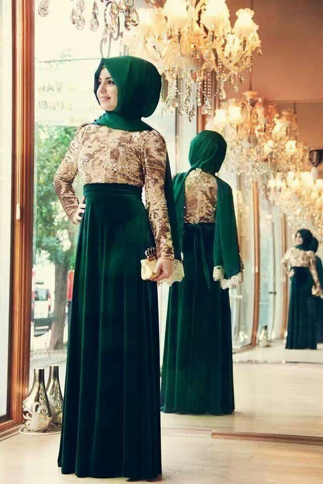 Emerald formal #hijab#muslimah fashion