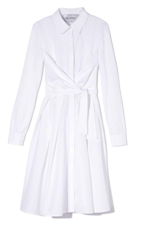 Wrap Pleated Shirt Dress by Valentino Now Available on Moda Operandi