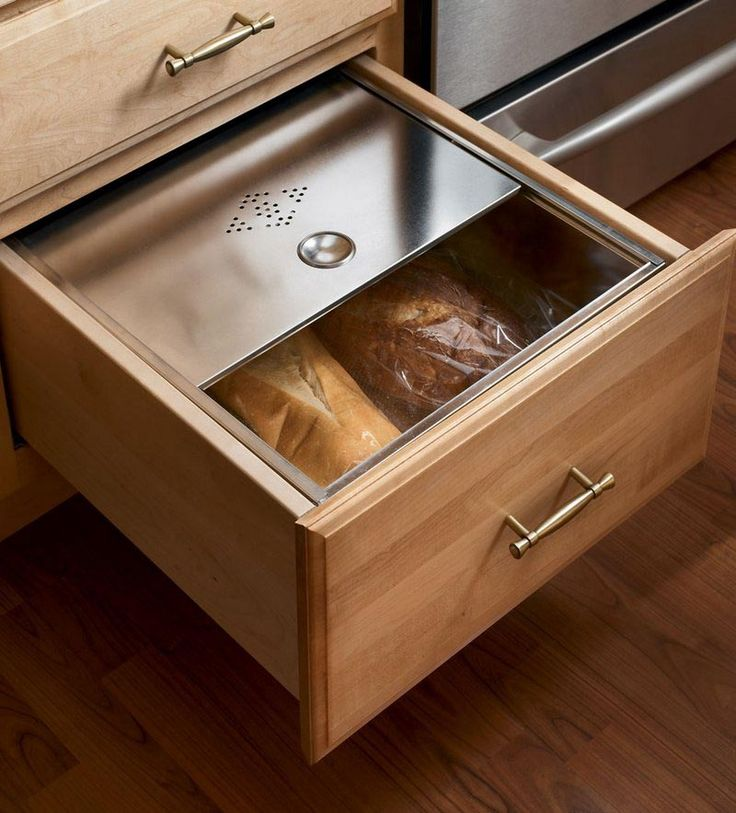 storage solutions details base bread box drawer kraftmaid kraftmaid cabinetry - Kitchen Storage Ideas
