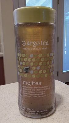 I also really, really like Argo Tea's container. The bottle is made of light but sturdy glass, and is tapered in the middle to feel great in the hand. The label is printed on a sheet of plastic around the bottle, allowing it to be completely ripped off, and the bottle sports an orifice wide enough for ice cubes. The lid is also made of a relatively sturdy plastic that is designed to screw on either perfectly or not at all. It's clear that Argo Tea has designed their bottle with direct…
