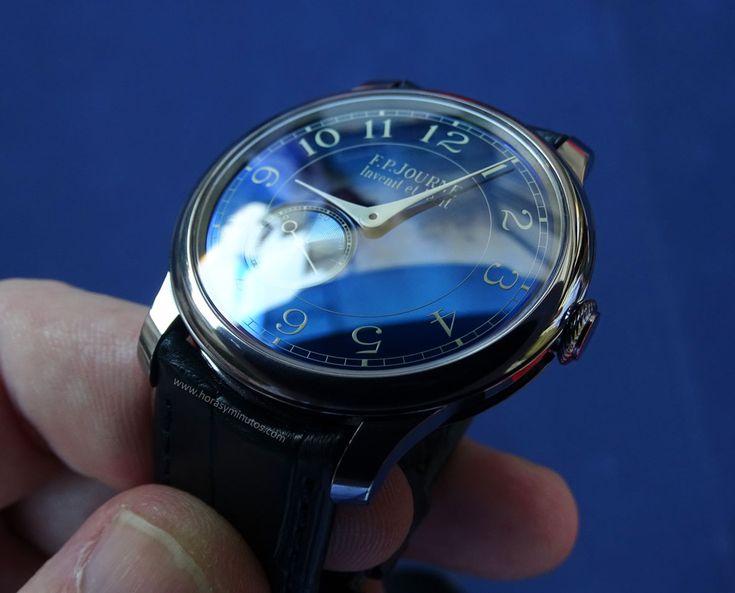FP Journe Chronomètre Bleu detalle de la esfera