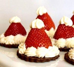 Easy Cute Dessert Recipe Santa S Strawberry Hats Http