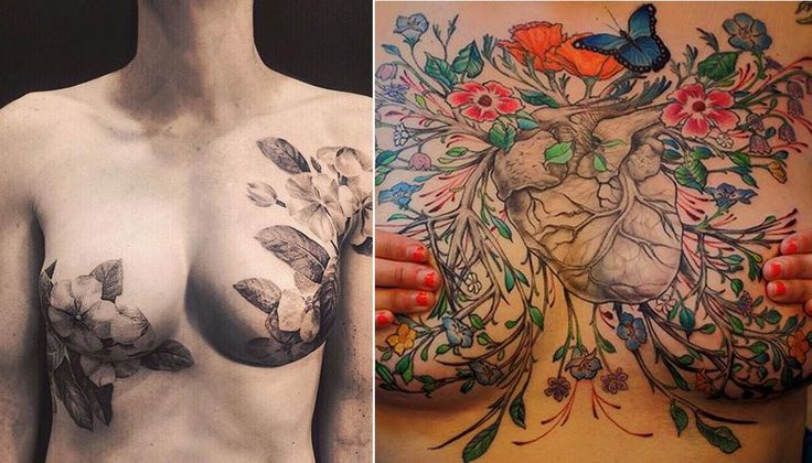 Mastectomy Tattoos | Breast cancer survivors show off the stunning mastectomy tattoos that ...