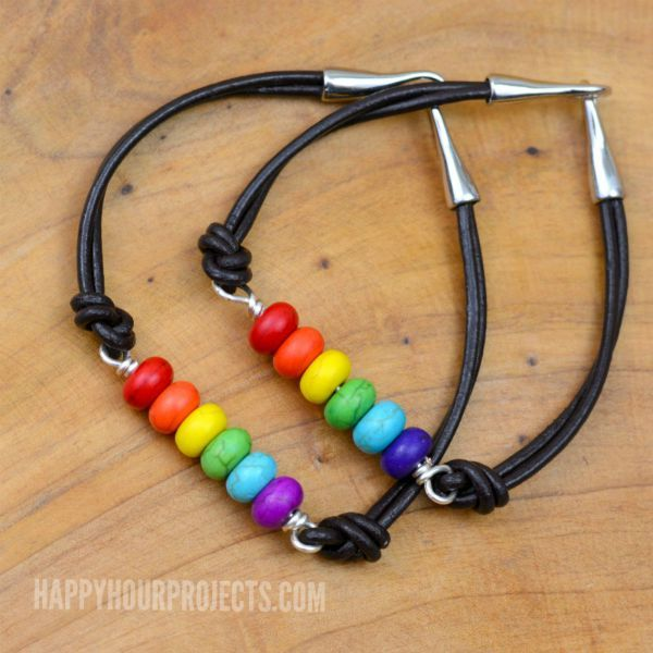 311 best 30 minute jewelry crafts images on pinterest jewelry rainbow diy bead and leather bracelets happy hour projects solutioingenieria Images