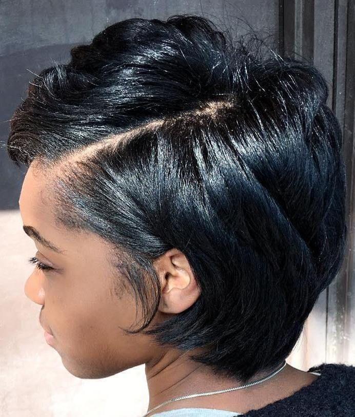 15 Best Short Hairstyles For Black Hair In 2019 Silk Press Natural Hair Natural Hair Styles Short Natural Hair Styles