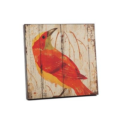 Sarı Kırmızı Kuşlu Eskitme Ahşap Duvar Panosu #evdebir #ev #dekorasyon #home #decor #decorative #sari #kirmizi #kus #eskitme #ahsap #pano #yellow #red #bird #old #wood #board #FabricedeVilleneuve #Design