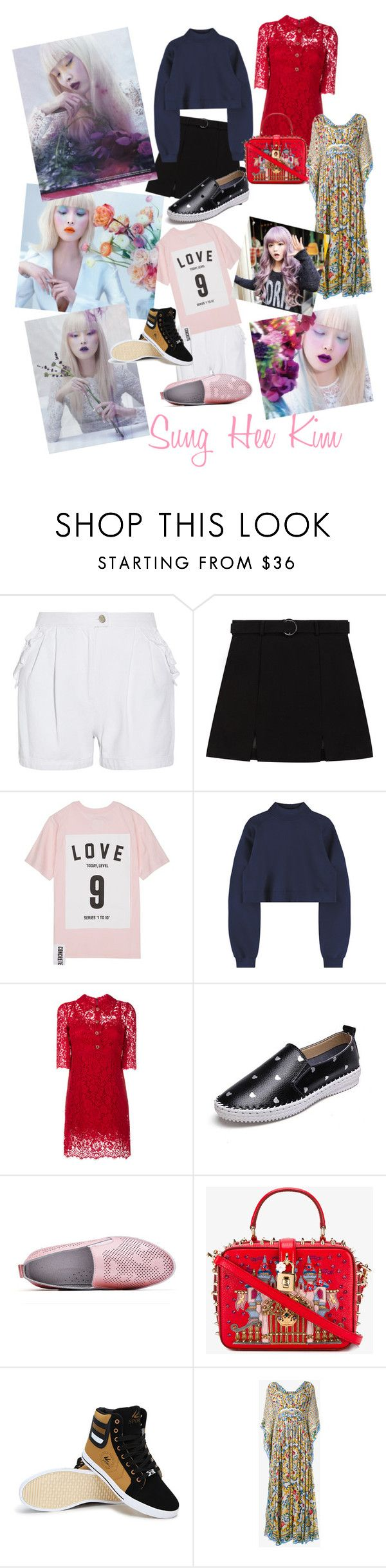 """Korean Inspired- Sung Hee Kim"" by maryann-bunt-deile ❤ liked on Polyvore featuring Steve J & Yoni P, Studio Concrete, Dolce&Gabbana and GABALMANIA"