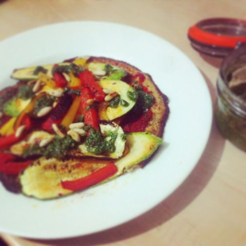 The best wheat and dairy free pizza by www.thewannabecook.com #healthy #paleo