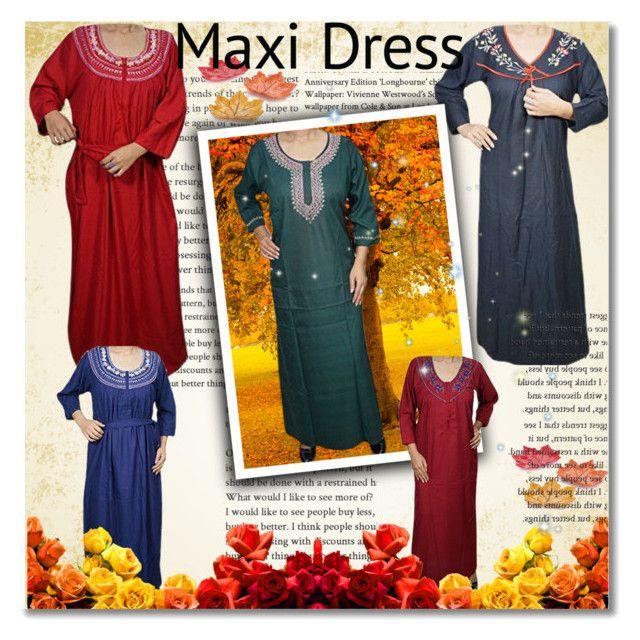 """Women Cotton Nightwear MAxi"" by lavanyas-trendzs ❤ liked on Polyvore"