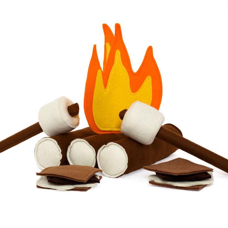 Felt Campfire Set by Mouse & Moose