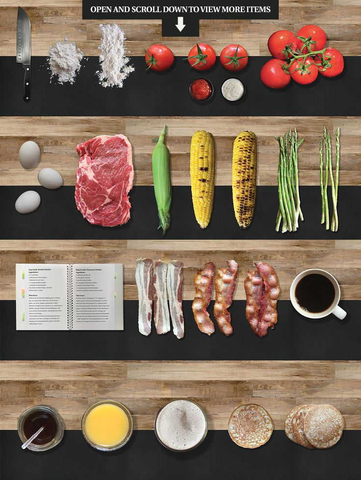 Food Scene/Menu Creator by Nathan Knight Design on Creative Market