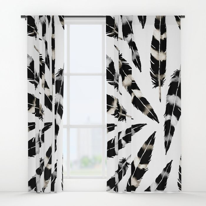 Buy Viking Feather Window Curtains by amayab. Worldwide shipping available at Society6.com. Just one of millions of high quality products available. @society6 WAtercolor feather pattern. #home #design #decor #designers #designlovers #bohemian #bohostyle