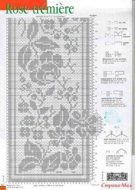 Цветы-4 - Филейное кружево - Страна Мам