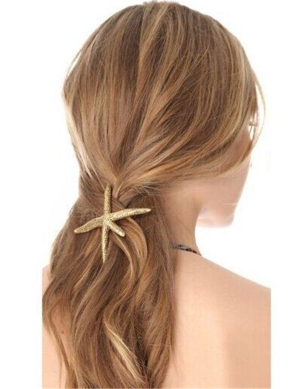 Barato Hot moda Bijoux ouro Starfish mar estrela do Metal Barrettes jóias grampo de cabelo Hairwear mulheres acessório nupcial horquilla, Compro Qualidade Jóias para cabelo diretamente de fornecedores da China:                             &n