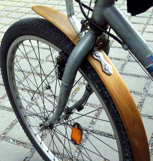 Picture of bicycle wood fender